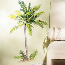 "WALLIES PALM TREE wall stickers MURAL 6 decals tropical leaves decor 32"" tall"
