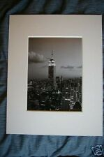 empire state building at night new york picture print manhattan mounted 11x14