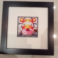 Peter Smith I Eat Cake PROFESIONALY !!Framed And Double Mounted