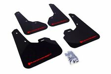 Rally Armor Black Mud Flap w/ Red Logo For 2010+ Mazda3/Speed3