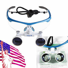 BLUE Dental Surgical Medical Binocular Loupes 3.5X Optical Glass for Dentist HPY