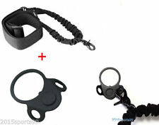 Tactical Single 1 Point Bungee Sling + The Dual Loop Sling Plate Mount Adapter