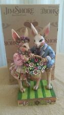 Enesco Jim Shore Happy Together Bunny Couple with Basket Easter Figurine 4007543