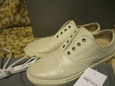 ALEXANDER MCQUEEN MENS WHITE CALF HAIR STUDDED SNEAKER SHOES 42 / 9 D NEW $845!!