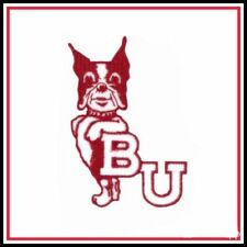 "Boston University Terriers Vintage Embroidered Iron On Patch 3.7"" x 2.5"" NICE"