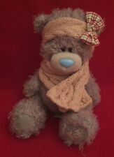 "ME TO YOU TATTY TEDDY 8"" SCARF & HEADBAND HEADWARMER WITH BOW PLUSH BEAR GIFT"