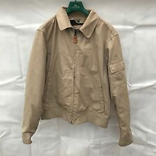 VINTAGE TIMBERLAND AUTHENTIC MEN'S ZIP UP THICK JACKET SIZE XL GENUINE BOMBER