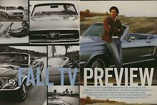 Patrick Dempsey 7pg + cover ENTERTAINMENT WEEKLY magazine feature, clippings
