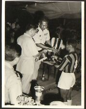 CAMBODGE KAMPUCHEA PHOTO LON-NOL ANCIEN PRESIDENT REMISE COUPE FOOTBALL 1962