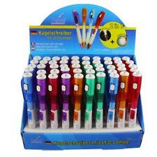 5 Stück Kugelschreiber mit LED Lampe 2in1 mit heller LED Lampe Bunt BA15