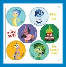 96 Inside Out Dot Stickers (16 Sheets) Disney Pixar Movie Party Favors