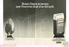 Publicité Advertising 1978 (2 pages) Le rasoir Braun