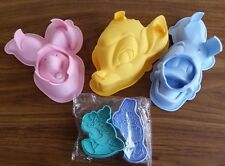 Disney Piglet Donald Duck Bambi Cake Silicone Moulds Cookie Cutter Baking Bundle