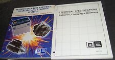 1987 GM PRODUCT SERVICE TRAINING MANUALS TECHNICAL SPECS CHARGING CRANKING