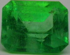0.92 ct Rectangle Cut Natural Green Colombia EMERALD GEMSTONE/GEM