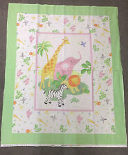 SAFARI BABY QUILT PANEL SPECIAL OFFER £10! 100% COTTON