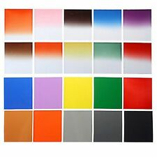 24 Pcs Complete Full & Graduated Square Color + ND Filter Kit for Cokin P Series