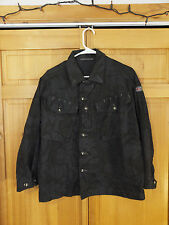 "British Army Dyed Desert DPM Black ""Night"" Camo Field Shirt, Size Large 160/104"