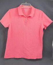 2 SHIRTS PRETTY YELLOW & SALMON KIM ROGERS P/S KNIT POLO  PULL OVER SHIRT TOP