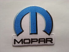 MOTORSPORTS NASCAR RALLY RACING SEW ON / IRON ON PATCH:- MOPAR (a) BLUE M