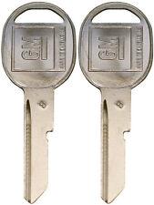 """2 NEW GM Logo OEM DOORS/TRUNK """"B"""" Key Blank Uncut 320589 B49P B49 01154611 5-B"""