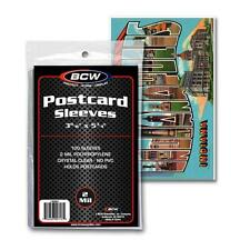5 Packs (500) BCW Postcard Poly Sleeves Storage Holders Bags