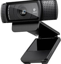 LOGITECH C920 HD PRO WEBCAM MICROFONO 1080P VIDEO chiamata SKYPE USB Pc Rrp £ 89.99