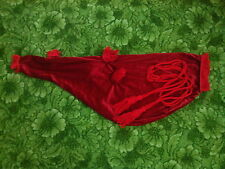 NEW SCOTTISH GREAT HIGHLAND BAGPIPE BAG COVER RED VELVET + RED BAGPIP CORD/GAITA