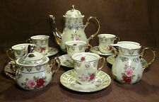 THUN  KARLOVARSKY Rose Pattern Design Fine Porcelain China Tea Set - 17pc.