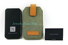 HUGO BOSS BLACK LABEL GREEN CANVAS LEATHER IPHONE CASE 3G 3Gs 4 GALAXY ACE NEW