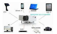 Portable HD LED Projector Home Cinema Theater PC Laptop VGA/USB/SD/AV/HDMI DVD