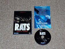 Rats: Night of Terror DVD 2007 Complete Bruno Mattei Blue Underground