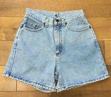 LEE Vtg 80s/90s Womens HIGH WAISTED Jean SHORTS Made In USA 100% Cotton Size 9 M