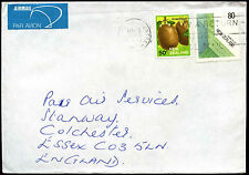 New Zealand 1987 Airmail Cover To UK Date Inverted Error #C40346