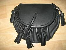 Kilttasche Kilt Tasche Sporran Schottland aus Leder mit Gürtel Beutelform NEU