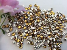 30 Vintage Swarovski Rose Montees 10ss 2.8mm Topaz SEW ON Post Free