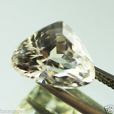 BIG 7.40 ct EXCELLENT TOP LUSTRE RARE WHITE KUNZITE TRILLION FACETED VS - $NR!