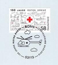 BRD 2013: Rotes Kreuz 150 Jahre! Nr. 2998 mit Bonner Ersttags-Sonderstempel! 1A