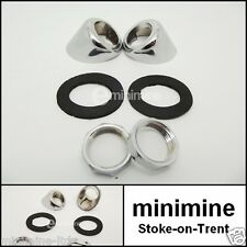 Classic Mini Chrome Wiper Bezel Plinth Kit PAIR 13H7201 cooper bmc FREE POSTAGE!