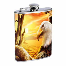 Eagle Flask D6 8 oz Stainless Steel Soaring Flying American Bird of Prey