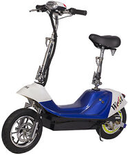 X-Treme City Rider 36V Electric Scooter With E-Bike Quiet Hub Motor Blue NEW