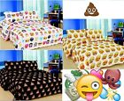 EMOJI EMOTION POOH SMILEY FACES PIZZA DUVET COVER BEDDING SET SINGLE DOUBLE KING