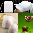 100x non-woven Empty Teabags String Heat Seal Filter Paper Herb Loose Tea Bags A