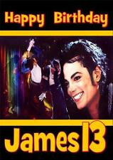 MICHAEL JACKSON  PERSONALISED A5 BIRTHDAY CARD WITH FREE 10 x 15 PRINT