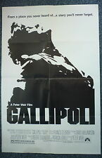 GALLIPOLI Original 1980s OS Movie Poster Peter Weir, Mel Gibson, Mark Lee
