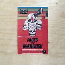 Deathwish skateboard vinyl sticker VHS vintage movie SK8 Faces of skulls knife