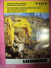 ✪ Prospekt Liebherr Hydraulic excavator R 974 B Litronic Technical Description