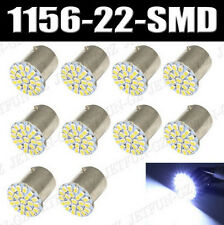 10X White 1156 BA15S 22-SMD LED Light bulb Turn Signal Backup P21W 382 7506