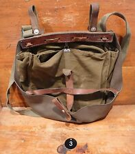 Vintage Swiss Army Military Bread Bag Bicycle Pannier Purse Hunt/ Fish 1982 #3