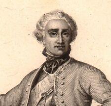 Portrait XIXe Maréchal Maurice de Saxe Armée Française Roi Louis XV